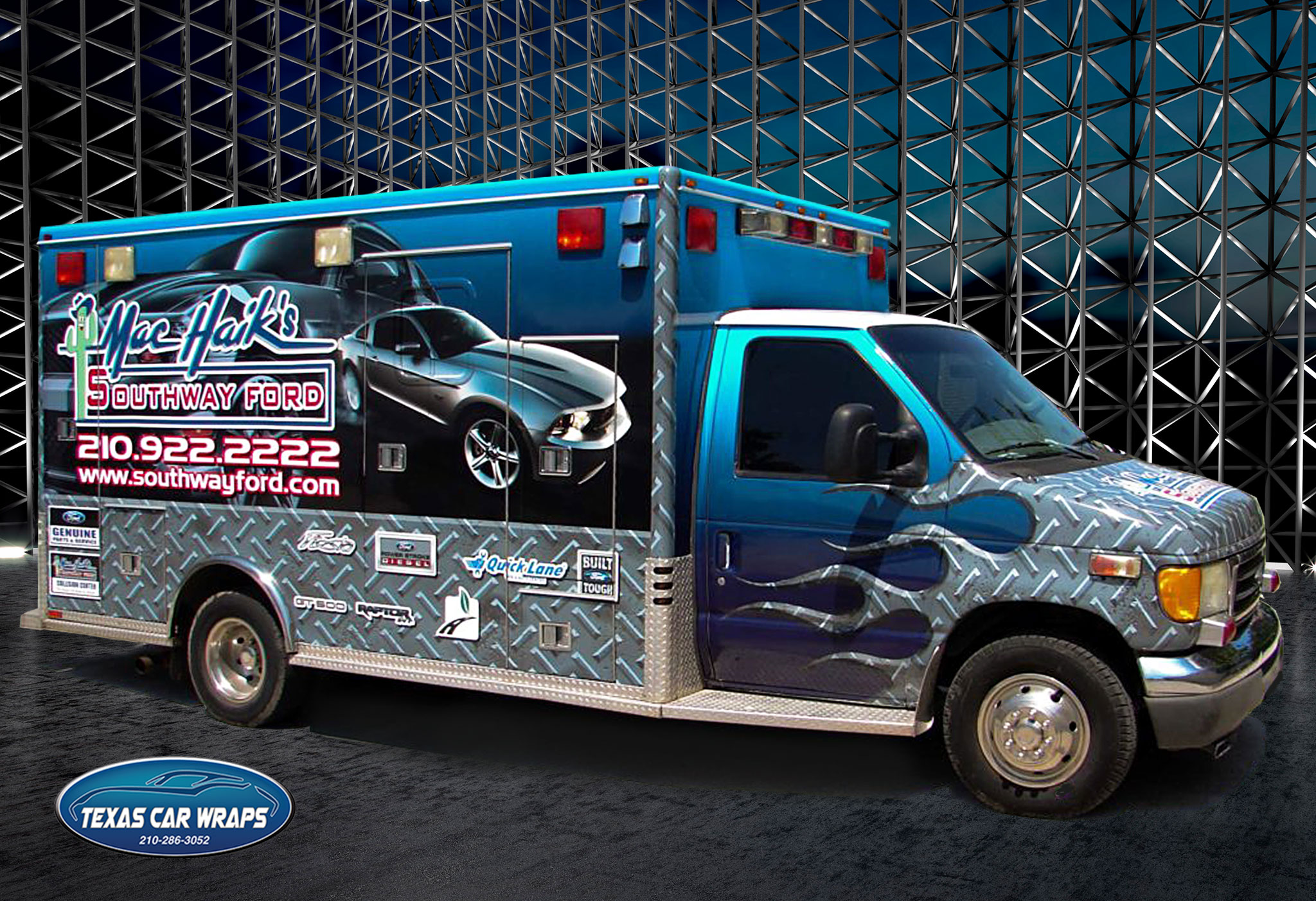 Commercial Wraps Austin TX | Ambulance Wrap Austin TX | Truck Wrap Austin TX | Vehicle Wrap Austin TX | Dealership Graphics Austin | Dealership Signs Austin TX