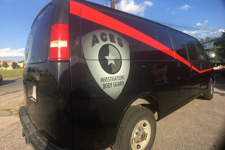 ACES Van Wrap, Texas Car Wraps