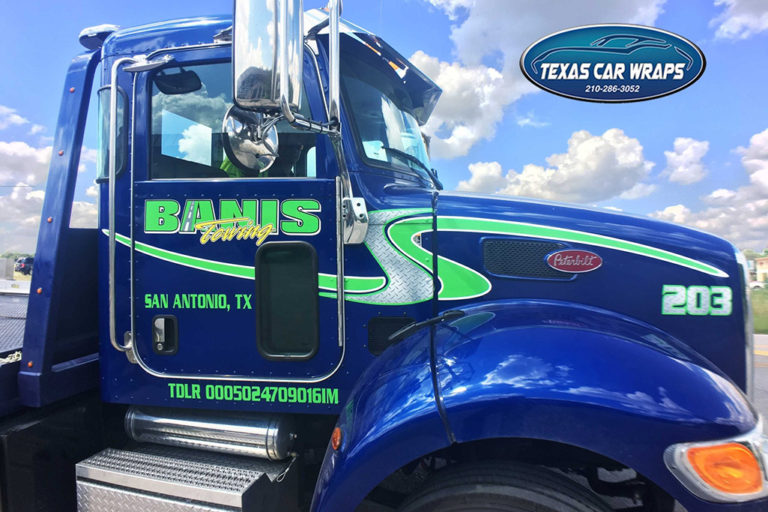 Banis Towing Commercial Wrap, Texas Car Wraps