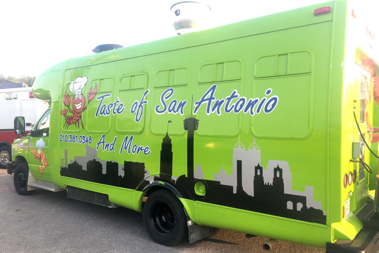 Taste of San Antonio Food Truck Wrap, Texas Car Wraps