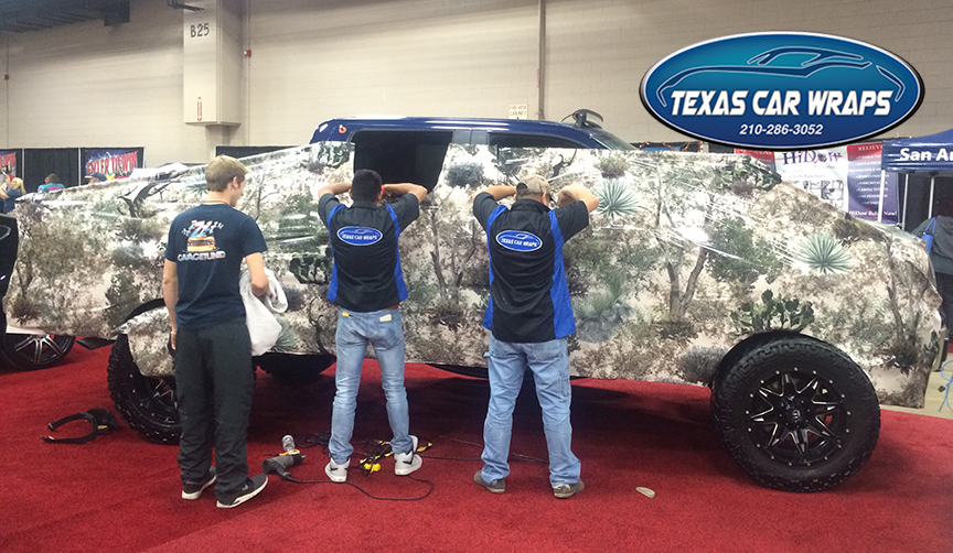 Camouflage Truck Wrap, San Antonio, TX