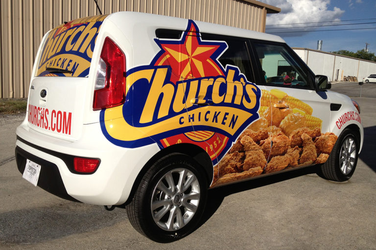 Church's Chicken Van Wrap, Texas Car Wraps