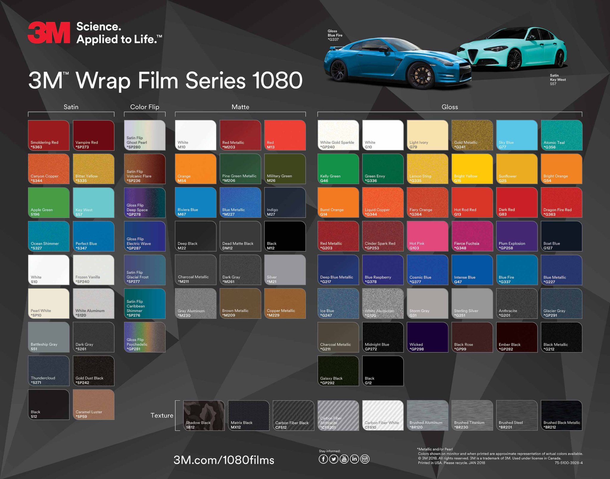 Color Charts | Texas Car Wraps | Vehicle wrap San Antonio