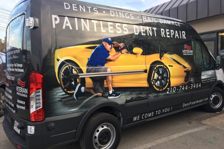 Paintless Dent Repair Van Wrap, Texas Car Wraps