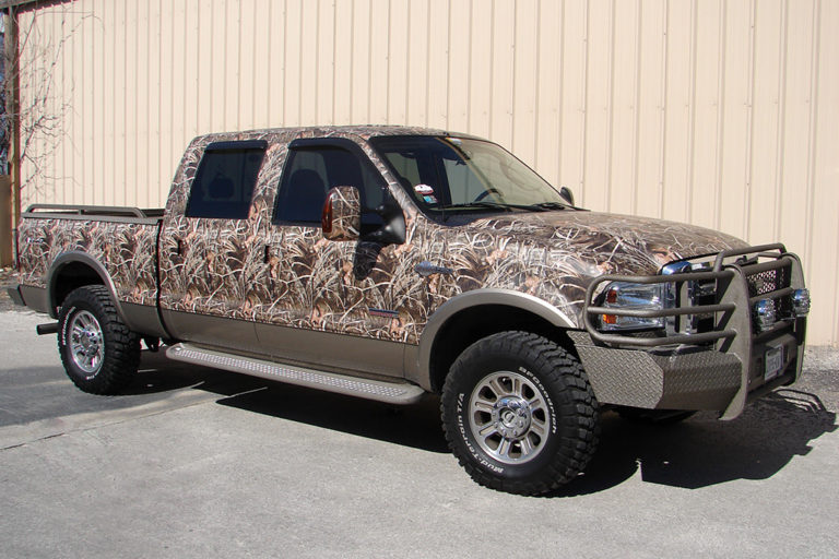 King Ranch Camo Wrap, Texas Car Wraps