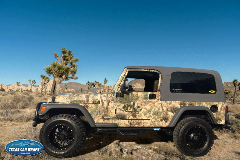 Jeep Camo Wrap, Texas Car Wraps