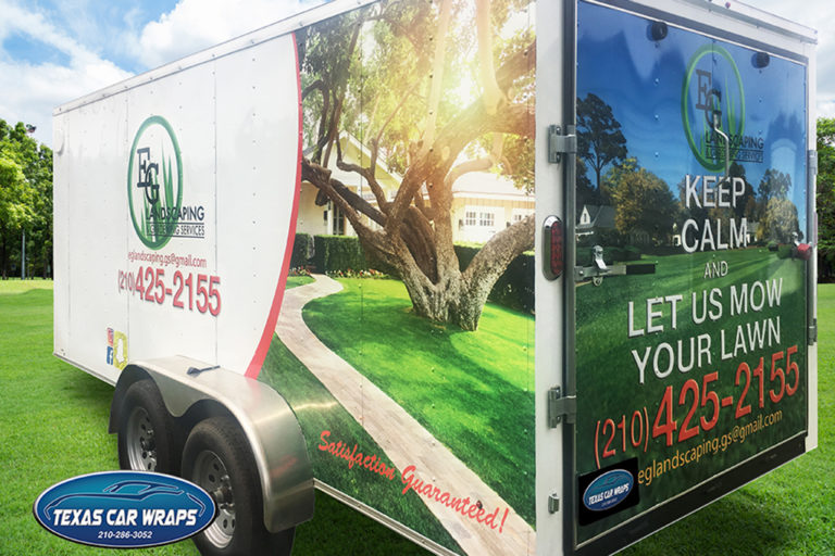 EG Landscaping Trailer Wrap, Texas Car Wraps