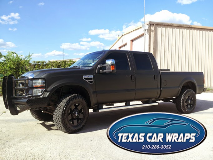 Matte Black Vehicle Wrap, San Antonio, TX