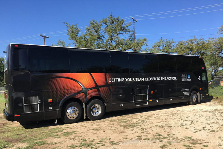 NCAA Bus Wrap, Texas Car Wraps