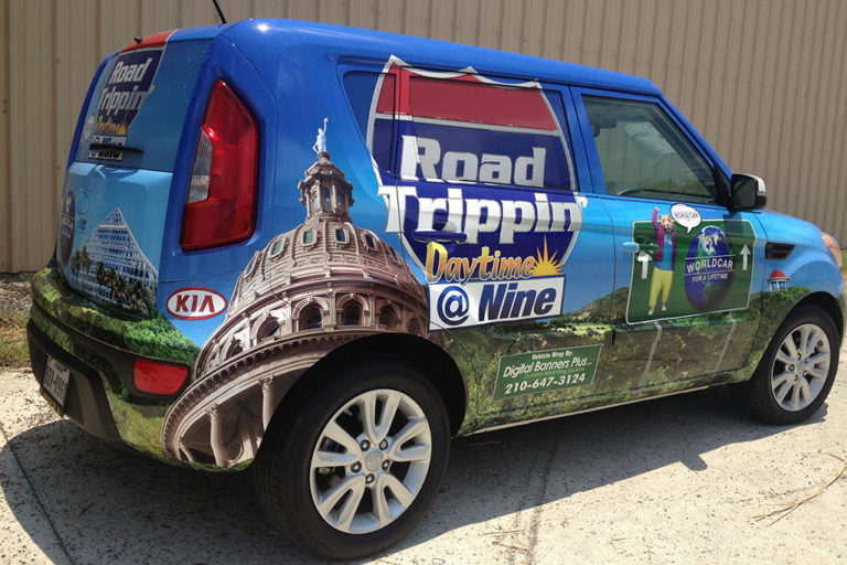 Road Trippin Van Wrap, Texas Car Wraps
