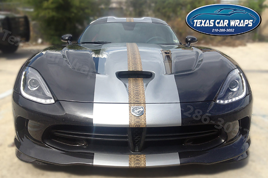 Dodge Viper Racing Stripe Wrap, Texas Car Wraps