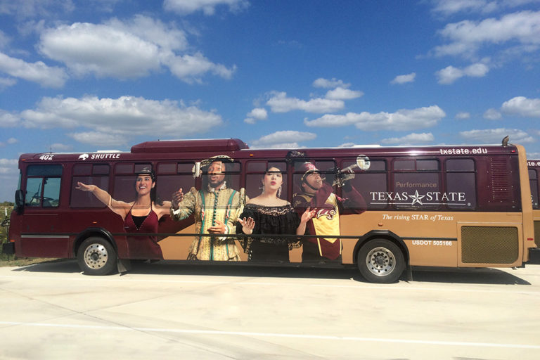 Texas State Bus Wrap, Texas Car Wraps