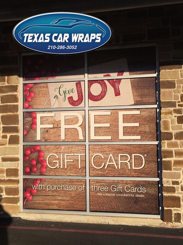 Custom Window Decal, San Antonio, Texas