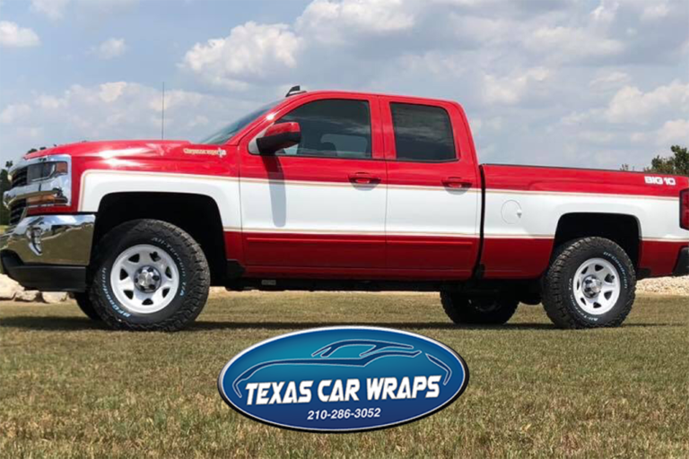 Red Chevy Big 10 Wrap, Texas Car Wraps