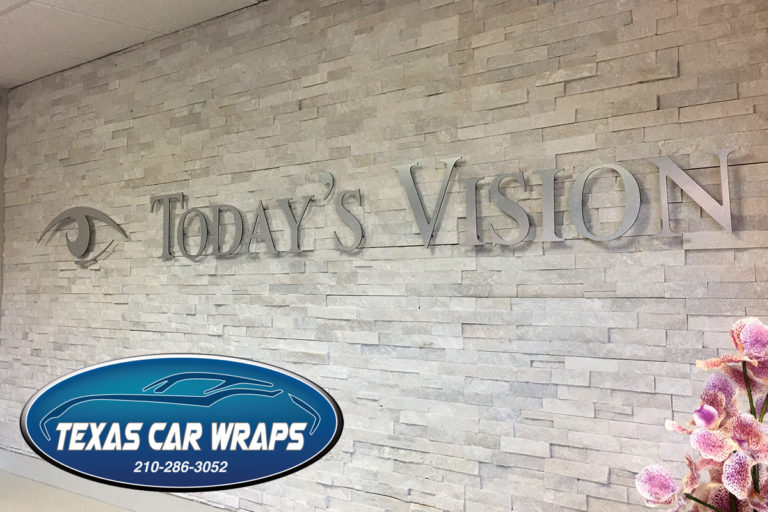 Today's Vision Interior Three Dimensional Sign
