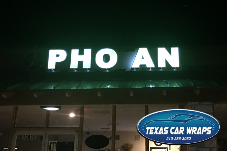 Pho An Lighted Sign