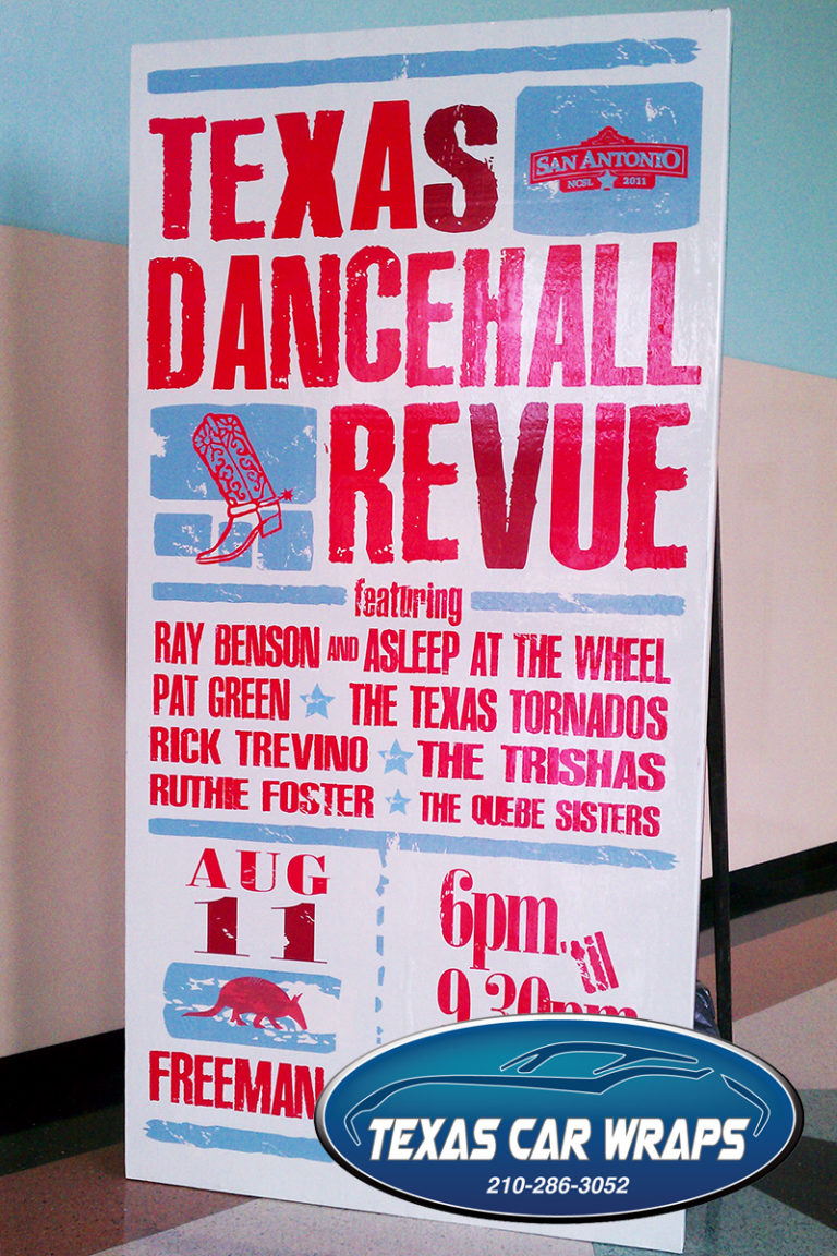 Texas Dancehall Sign